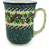 Polish Pottery Bistro Mug Berry Garland