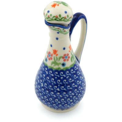 Polish Pottery Bottle 5 oz Spring Flowers