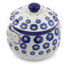 Polish Pottery Bouillon Cup with Lid 24 oz Wreath Of Blue