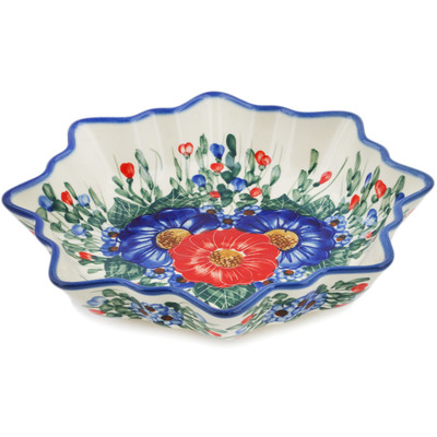 "Polish Pottery Bowl 10"" Poppy Trio"