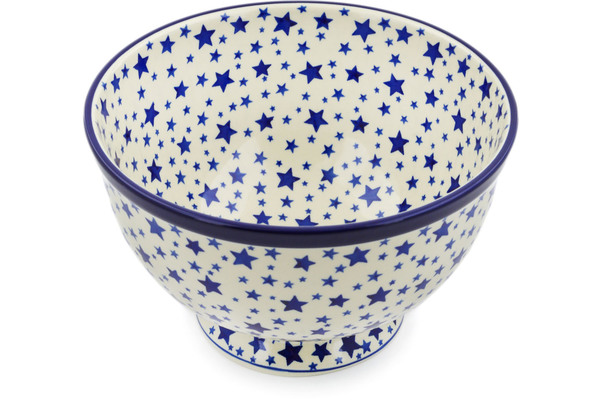Deep Heart Polish Pottery Bowl Crimson Bells