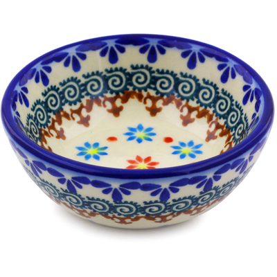 "Polish Pottery Bowl 3"" Sunflower Dance"