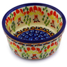 "Polish Pottery Bowl 4"" Blooming Red"
