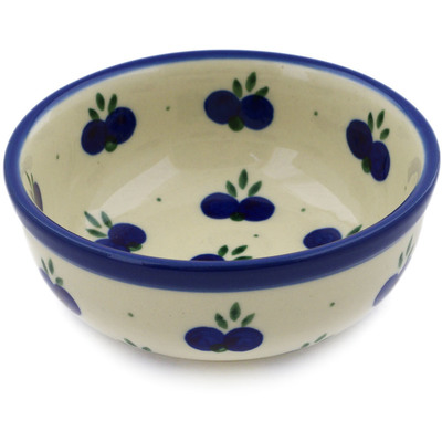 "Polish Pottery Bowl 4"" Wild Blueberry"