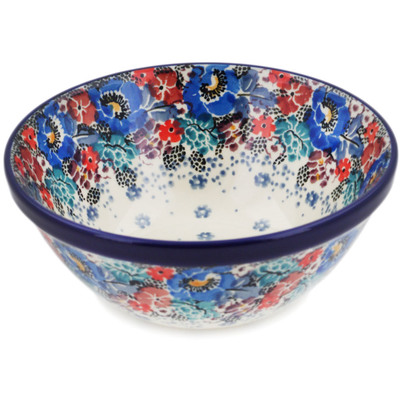 "Polish Pottery Bowl 5"" Autumn Bunch UNIKAT"
