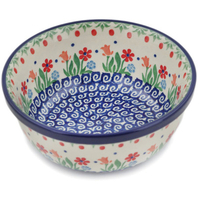 "Polish Pottery Bowl 5"" Babcia's Garden"