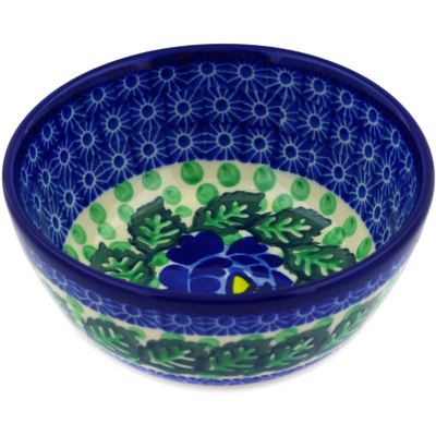 "Polish Pottery Bowl 5"" Blue Bliss"
