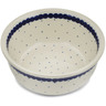 "Polish Pottery Bowl 5"" Blue Polka Dot"