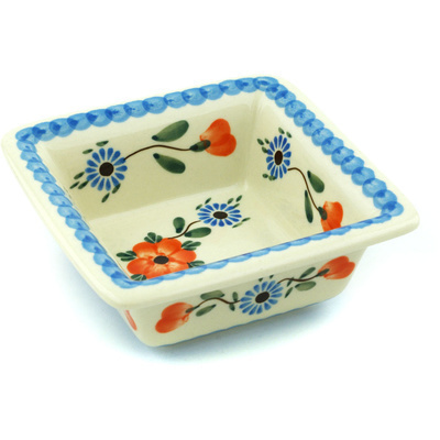 "Polish Pottery Bowl 5"" Cherry Blossoms"