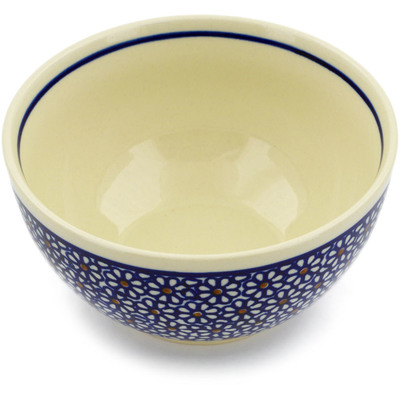 "Polish Pottery Bowl 5"" Daisy Dreams"