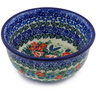 "Polish Pottery Bowl 5"" Dragonfly Bouquet UNIKAT"
