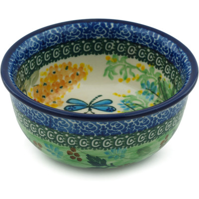 "Polish Pottery Bowl 5"" Garden Delight UNIKAT"