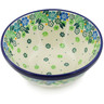 "Polish Pottery Bowl 5"" Good Luck Wildflowers"