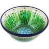 "Polish Pottery Bowl 5"" Green Prairie UNIKAT"