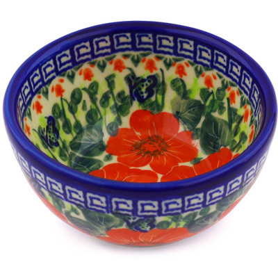 "Polish Pottery Bowl 5"" Happiness UNIKAT"