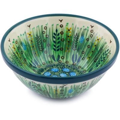 "Polish Pottery Bowl 5"" Prairie Land UNIKAT"