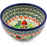 "Polish Pottery Bowl 5"" Red And Green Berries"