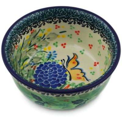 "Polish Pottery Bowl 5"" Sipping Nectar UNIKAT"