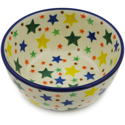"Polish Pottery Bowl 5"" Star Fiesta"