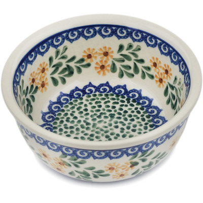 "Polish Pottery Bowl 5"" Summer Day"