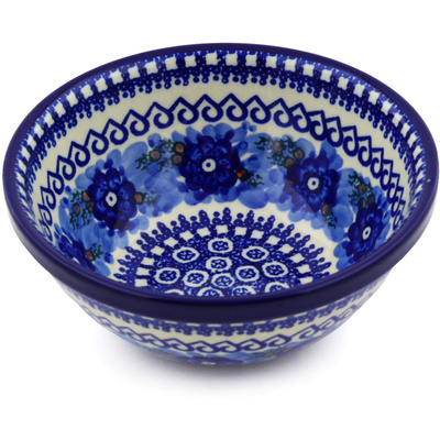 "Polish Pottery Bowl 6"" Alpine Spring UNIKAT"