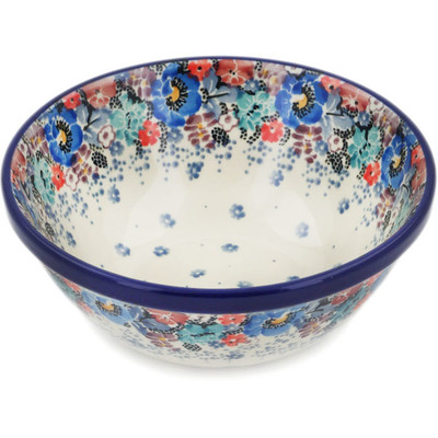 "Polish Pottery Bowl 6"" Autumn Bunch UNIKAT"