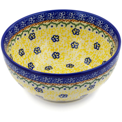 "Polish Pottery Bowl 6"" Bumble Fields"