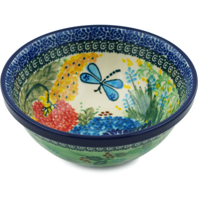"Polish Pottery Bowl 6"" Garden Delight UNIKAT"