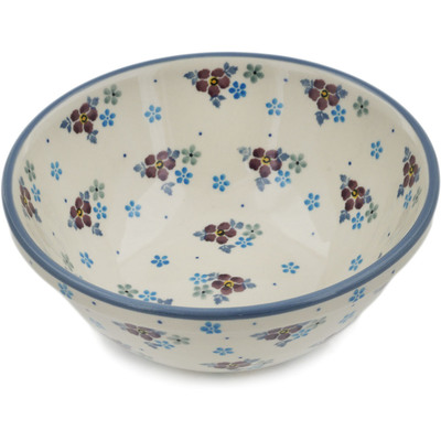 "Polish Pottery Bowl 6"" Lavender Dreams"