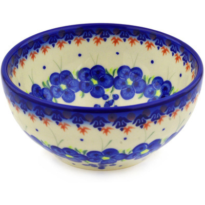 "Polish Pottery Bowl 6"" Passion Poppy"