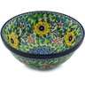 "Polish Pottery Bowl 6"" Spring Serenade UNIKAT"