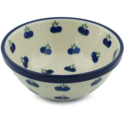 "Polish Pottery Bowl 6"" Wild Blueberry"
