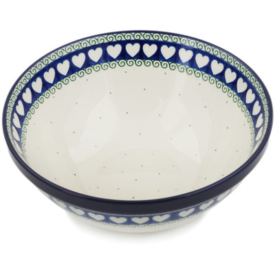 "Polish Pottery Bowl 9"" Light Hearted"