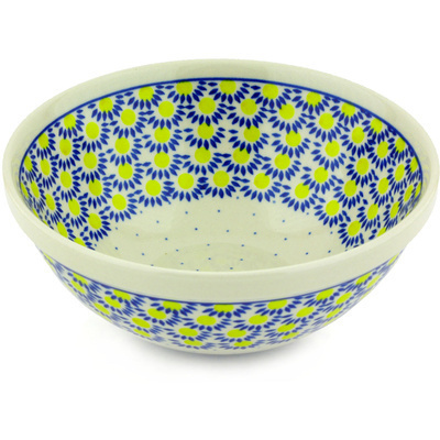"Polish Pottery Bowl 9"" Radiant Scales"