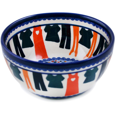 "Polish Pottery Bowl "" Laundry Day UNIKAT"