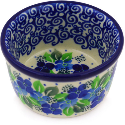 Polish Pottery Bowl Small Blue Phlox