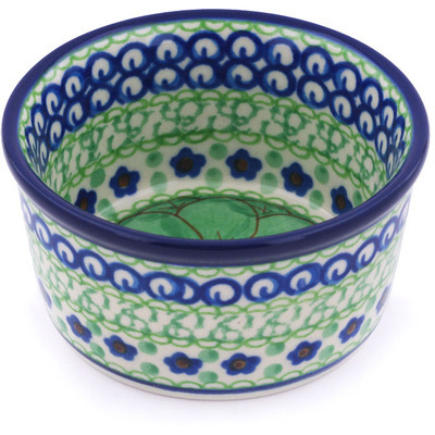 Polish Pottery Bowl Small Key Lime Dreams UNIKAT