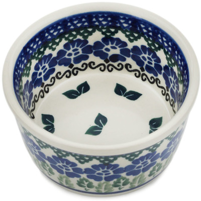 Polish Pottery Bowl Small Leaves And Flowers