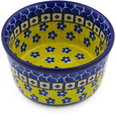 Polish Pottery Bowl Small Sunburst Daisies