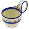 Polish Pottery Bowl with Loop Handle 16 oz Children's Chasing Cars