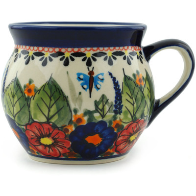 Polish Pottery Bubble Mug 10 oz Spring Splendor UNIKAT