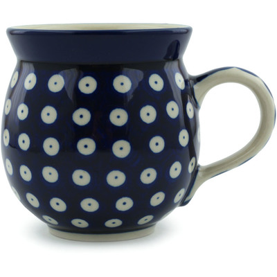 Polish Pottery Bubble Mug 12 oz Blue Eyes