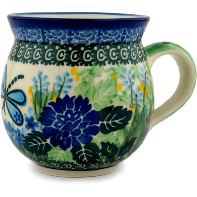 Polish Pottery Bubble Mug 12 oz Garden Delight UNIKAT
