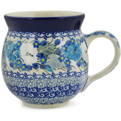 Polish Pottery Bubble Mug 12 oz Wedding Bouquet UNIKAT