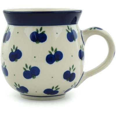 Polish Pottery Bubble Mug 12 oz Wild Blueberry