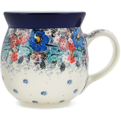 Polish Pottery Bubble Mug 16 oz Autumn Bunch UNIKAT