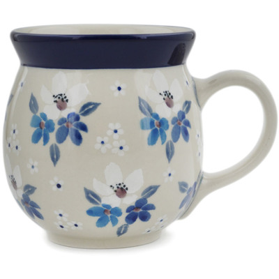 Polish Pottery Bubble Mug 16 oz Bunches Of Beauty UNIKAT