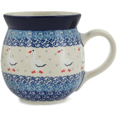 Polish Pottery Bubble Mug 16 oz Duck Duck Goose
