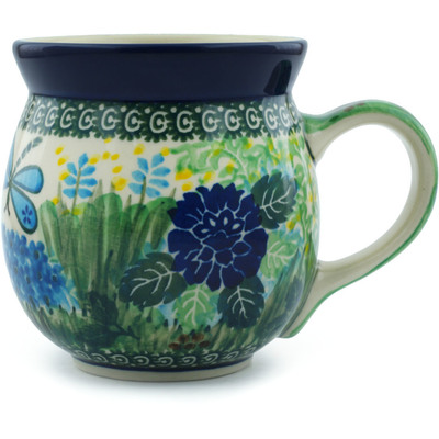 Polish Pottery Bubble Mug 16 oz Garden Delight UNIKAT