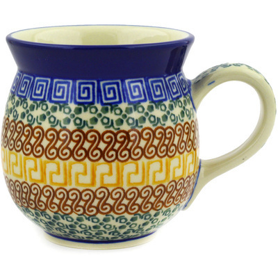Polish Pottery Bubble Mug 16 oz Grecian Sea